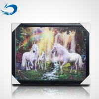 China Home Decoration 3D Lenticular Picture Of Customize Horses Lenticular 3D Poster wholesale
