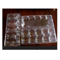 China 10 Cavities Clear Plastic Egg Cartons , Disposable Food Containers on sale
