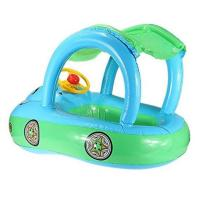 "China Cartoon Car Inflatable Float Boat With Sunshade PVC Ring Tube For Infants 30*22"" wholesale"