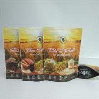 Quality Resealable Foil Pouch Packaging Food Pouches Cereal Rice Seed Nuts Bag Full Color Printed for sale