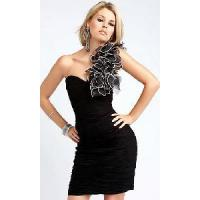 Buy cheap Black One Shoulder Homecoming Dresses from wholesalers