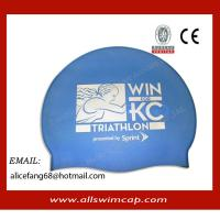 China Colorful swim hats,any color can be made,silicone swim hats wholesale