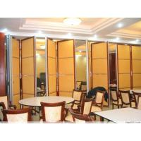 China MDF + Aluminum Acoustic Sliding Partition Wall , Movable Partition Wall Boards wholesale