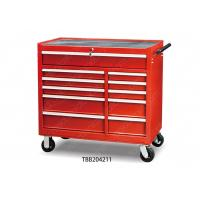 China 10 Drawer Locking Tall Metal Tool Cabinet , Rolling Tool Chest Aluminum Drawer wholesale