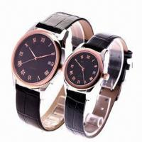 China Promotional Watch Set with Alloy Metal and Leather Strap, Packing, Gift Box wholesale