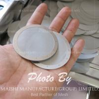 China Wire mesh deep processing 1mesh-635mesh silver stainless steel mesh filter disc wholesale