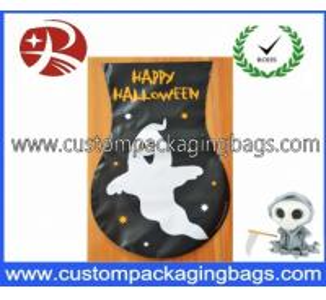 HDPE Cartoon Plastic Treat Bags , Biodegradable Halloween Goodie Bags