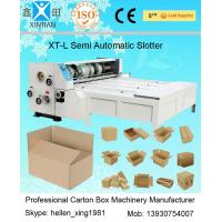 Quality Chain Feeding Semi Automatic Die Cutting Machine , Carton Sheet With Pressure Plate for sale