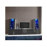 China Grey Color MDF Wall Mounted Entertainment Center Furniture For Living Room wholesale