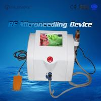 Quality Portable equipment Fractional RF microneedle / micro needle skin tightening machine / acne scar removal rf needle machin for sale