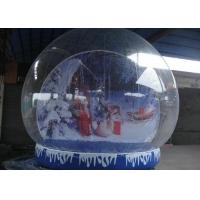 Buy cheap Round Shaped Inflatable Snow Globe Plato Tarpaulin Base For Steady Decoration from wholesalers