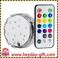 China Best 10 Multi colors Lights battery operated remote controlled LED Submersible light on sale