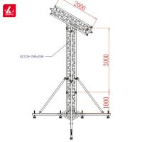 China High Quality Stand Tower Speaker Truss Facility Structure Square 300x300mm wholesale