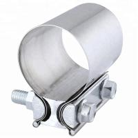 China Aluminized Preformed Exhaust Band Pipe Clamp Heavy Duty Lap Joint Clamp on sale