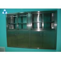 China Drug Storage Hospital Air Filter Stainless Steel Medical Cabinets With Manual Sliding Half - Glass Door wholesale