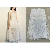 China Shiny Sequin Embroidered Floral Beaded Bridal Lace Fabric Light And Transparent Texture wholesale