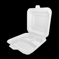 China Degradable Disposable PP Corn Starch Box Bento Clamshell Lunch Box wholesale