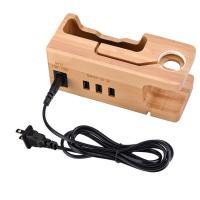 China Multi - Port Wooden Phone Charger with Apple Watch Charging Base wholesale