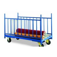 China High strength fabric storage steel rack with wheels on sale