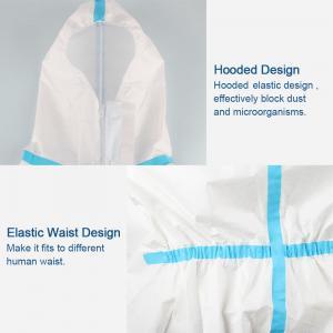 China Splash Repellent Disposable Protective Clothing , Non Woven Disposable Protective Coveralls wholesale
