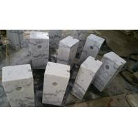 China Guangxi White Marble Car Packing Stone China Carrara White Marble Packing Barriers wholesale