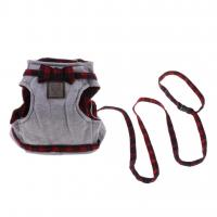 China British Style No Escape Cat Harness For Kittens Cotton Leash Set Feel Soft wholesale