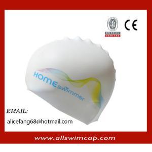 China 2014 wrinkle free silicone adult custom swimming caps wholesale