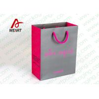 Grey & Pink Coloured Paper Gift Bags For Weddings 210gsm Material Manufactures