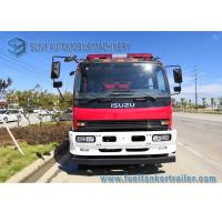 China ISUZU 4 x 2 FVR Fire Rescue Vehicles 6000L Water / Foam Tank For Petrochemical Industry wholesale