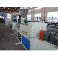 China Hydraulic Protective Sleeve Plastic Extrusion Line , Sprial Hose Warp Pe Pipe Extrusion Machine wholesale