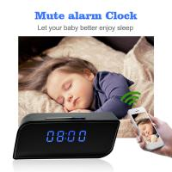 Quality Mini Hidden Spy Camera Wireless Alarm Clock, New Night Vision 1080P P2P IP CCTV Camera Mini Wifi Clock Security Camera for sale