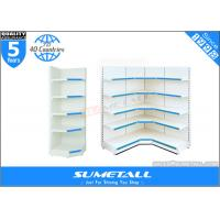 China Tego L Style Multi Tiered Shop Storage Shelves Display Fixtures For Retail Stores on sale