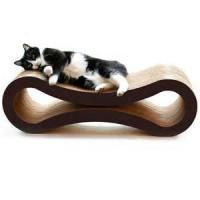 China Glossy Film Lamination Cardboard Cat Scratcher / Beds With Custom Logo Printed wholesale