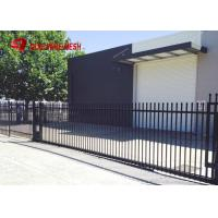 China Galvanized Steel Spear Top Security Fencing Heavy Duty 2 Rail Powder Coated wholesale