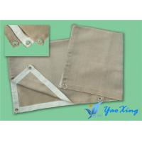 China Gas Station 0.8MM Fireproof Fiberglass Welding Blanket Roll Sgs Approved wholesale