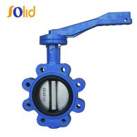 China Manufacturing Ductile Cast Iron Lug Type Manual Butterfly Valve Price List wholesale