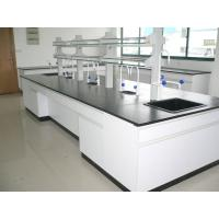 Buy cheap Professional All Wood Laboratory Island Bench 2400 / 3000 / 3600 * 1500 * 850 mm from wholesalers