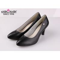 China Cow leather wedge heel non slip leather dress shoes for senior executive women wholesale