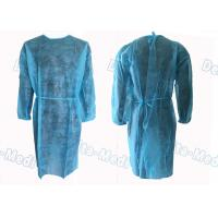 China Medical Hospital Isolation Gowns , Patient Surgical Disposable Waterproof Gowns wholesale