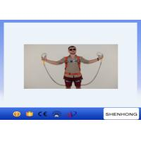 China Adjustable Full Body Harness Fall Protection Equipment Two Big Hook Along With Buffer Bag wholesale