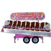 Buy cheap 10 Seats Theme Park Rides Crazy Wave Ride With Trailer OEM Service from wholesalers