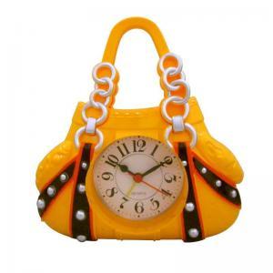China luxury women handbag shape yellow alarm clock wholesale