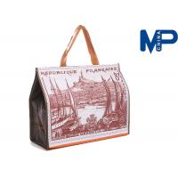 China Customizable Eco-friendly frosted PVC Tote Bottle Cooler Bag with Tiny Pocket wholesale