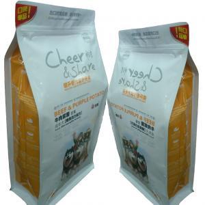 Zip Lock Customised Small Pet Food Bags For Fruity Biscut Orange Slice