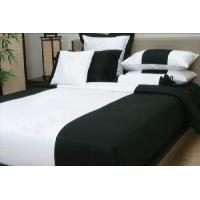 China Silk Bedding Set (Black and White Toghter Design) wholesale