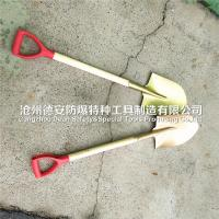 China brass spade ,non sparking shovel ,with wooden handle on sale