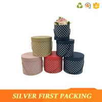 China Silver First  Cardboard waterproof cylinder flowers boxes cardboard packaging round hat boxes with lids made in China wholesale