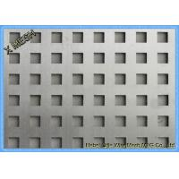 China Square Holes Perforated Metal Panel Facade SS Plates Excellent Visibility wholesale