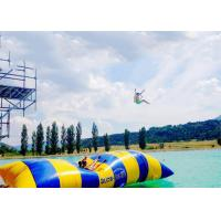 China Crazy Inflatable Water Trampolines / Inflatable Water Pillow For Jumping wholesale