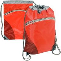 """China Zip Pouch Custom Drawstring Backpack - 14""""w x 18.5""""h wholesale"""